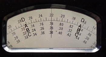 CM-1 Dial Scale
