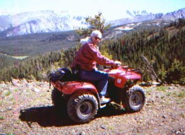 Jim on ATV on Montana mountaintop